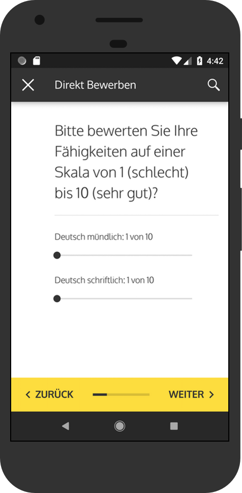 Screenshot: applyNOW - meinestadt.de