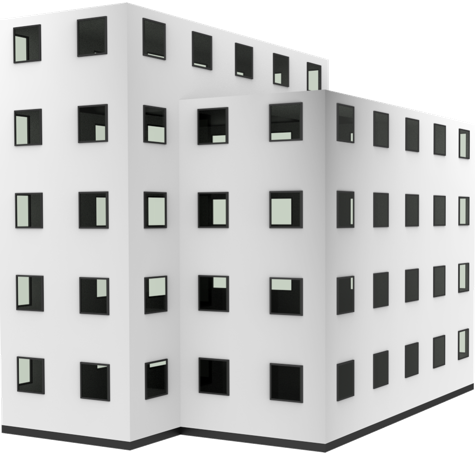 3D rendering of a building