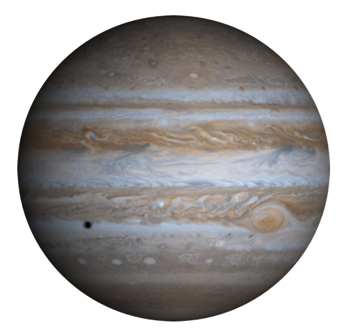 The largest planet in the solar system: Jupiter